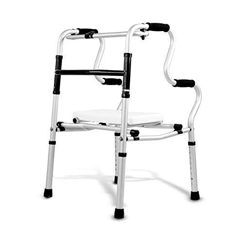 Walker, Walking Frame Leichte Zusammenklappbare Toilette Handlauf Bad Stuhl Rollator Walker Mit Gepolstertem Sitz Limited Mobility Aid