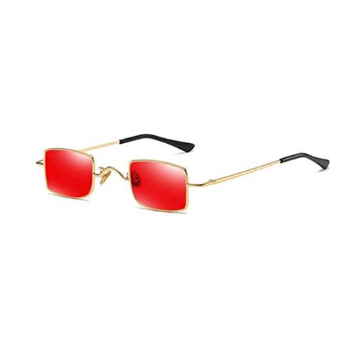 IOSHAPO Mini Paar Kleine Vierkante Zonneschijn retro Zonnebril Zonnebril licht Vintage Metalen frame Zonnebril