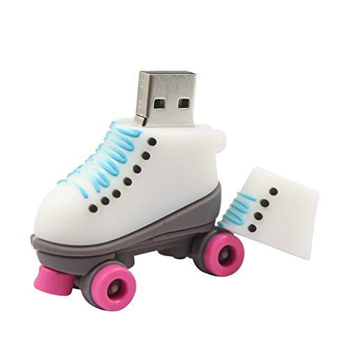 USB-Stick Flash Drive Speicherstick USB-Flash-Laufwerk Creative Dreidimensional Mini Schlittschuhe Geschenk Simulation Silikon Cartoon Persönlichkeit (4GB,pink)