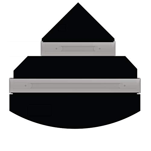 iQuatics Universal/Juwel kompatibles Ersatzklappen-Set ohne Skimmer/Futterlöcher, Trigon 350