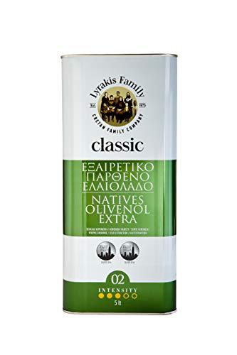 'Lyrakis Family depuis 1975' | Huile d'olive 5l | Extra Vierge - Pressée à Froid | Crète | Grèce | PREMIUM | Offre de lancement | 5 Liters