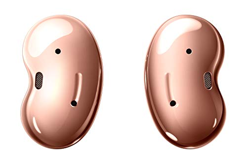 Samsung Galaxy Buds Live, Kabellose Bluetooth-Kopfhörer mit Noise Cancelling (ANC), ausdauernder Akku, Sound by AKG, komfortable Passform, Bronze (Deutche Version)