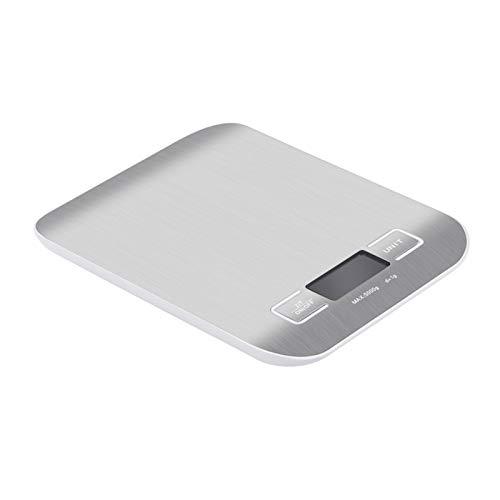 La última escala de grasa corporal electrónica inteligente Escala de cocina digital, pantalla LCD 1g / 0.1oz Acero inoxidable preciso Escala de alimentos para cocinar Balanzas de pesaje electrónico Ba