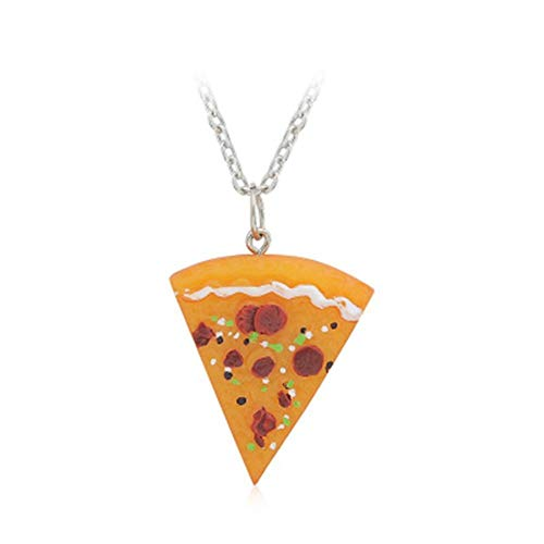 Huang 1 Pc Pizza Collar Amistad Amigos Familia Pareja Collares Colgante de Resina Joyería Lindo Regalo Divertido para Mejores Amigos Mujeres Hombres Niñas Niños
