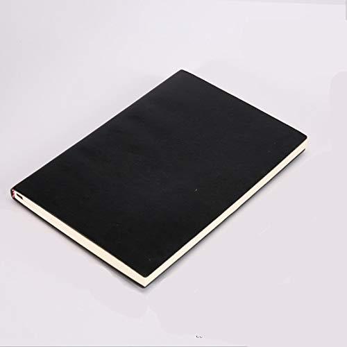 Cuaderno de tapa blanda A5 B5 5 colores Diario de negocios grande Cuero Diario de copia suave Oficina de la escuela Registro de reuniones Bloc de notas Manual A5Black