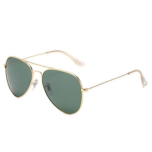 Gafas de sol de aviador ultraligeras de acero inoxidable con montura dorada G15