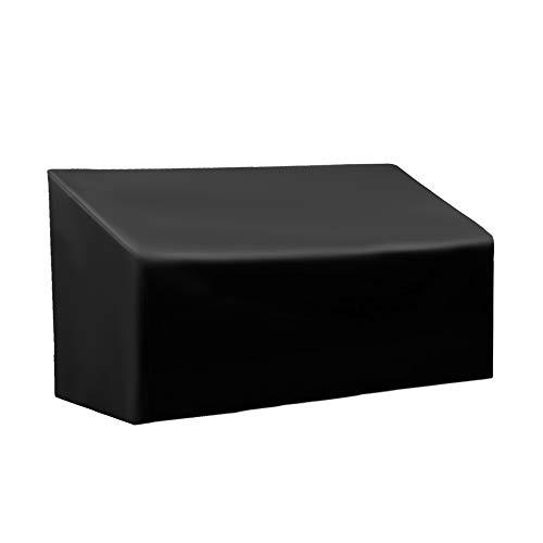 WISCLASS Garden Bench Covers 3 Seater Waterproof, Black, 163cm×66cm×89cm, Outdoor Garden Bench Covers, Patio Ratten Garden Furniture Cover, Outdoor Sofa Covers