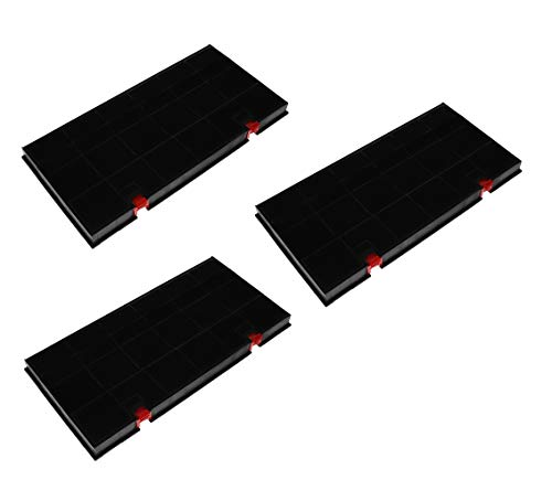 3x Aktivkohlefilter Filter Dunstabzugshaube für AEG Electrolux 50290644009 Elica 150 Bosch Siemens Neff 460450 Typ150