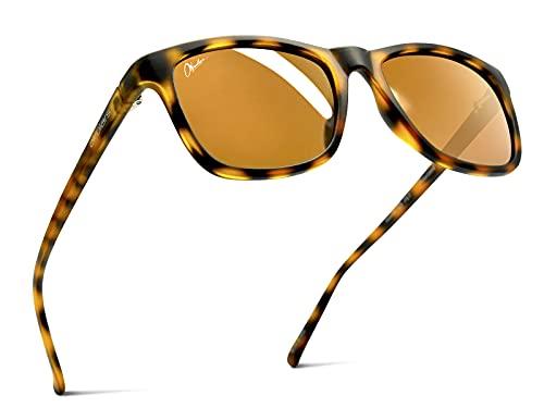 Okulars Eco Nordic - Gafas de sol de PET recicladas para hombre y mujer, polarizadas, talla única, marrón,