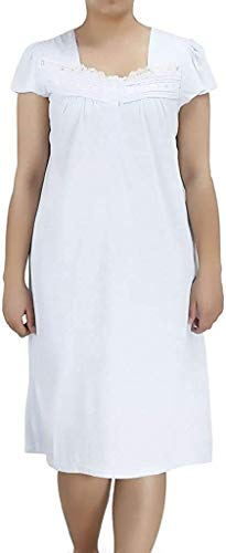 Ezi Women's Nightgowns13 Cap Sleeve Cotton-rich Nightgown Lavender,XL,Lavender