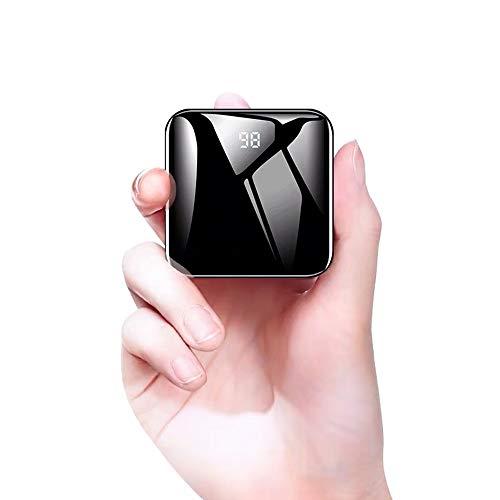 モバイルバッテリー 小型 軽量 13800mAh 大容量 急速充電 LED ライト付き コンパクト LCD残量表示 充電バッ...
