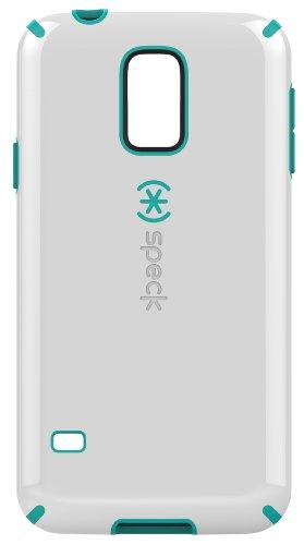 Speck CandyShell Grip Case Cover Schutzhülle für Samsung Galaxy S5 - Weiß/Caribbean Blue