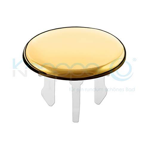 KNOPPO® Waschbecken Überlauf Abdeckung/Design Überlaufblende - Cap (gold)