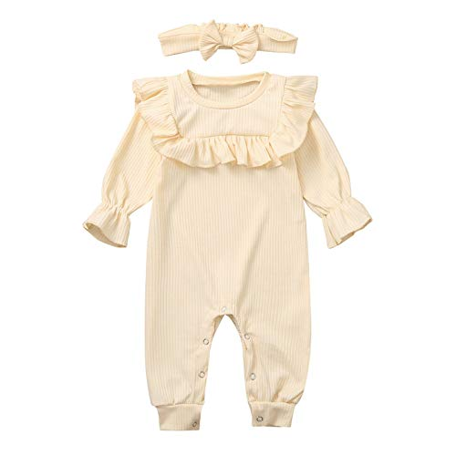 Conjunto de mameluco con volantes para recién nacidos, para bebés y niños, con bonito conjunto de trajes de una sola pieza