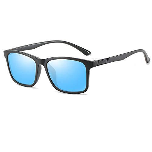 COCKE Gafas de Sol Mujer polarizadas bisagras de Resorte duplicadas Completas Gafas de Sol para Hombres Mujeres conducción Gafas Gafas de Sol Unisex UV400 Protección,Azul