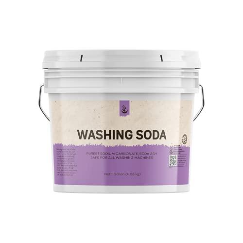 Natural Washing Soda (1 Gallon) Sodium Carbonate, Stain Remover, Water Softener, Multi-Purpose Cleaner