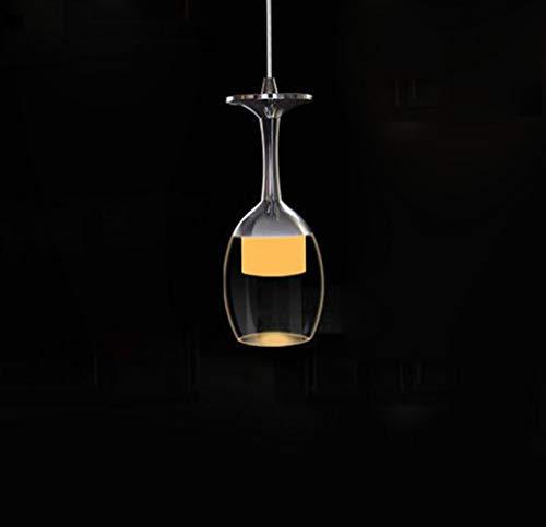Kronleuchter Einzelner Kopf Leuchter Hängelampe - Pendelleuchte Decke Weinglas Lampenschirm für Flur Hängende Lampe(Birne Ist Nicht Enthalten) Warmweiß