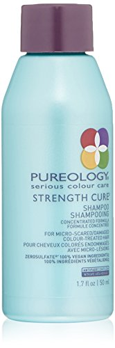Pureology Strength Cure Strengthening Shampoo | For Damaged, Color Treated Hair | Sulfate-Free | Vegan | 1.7 oz.