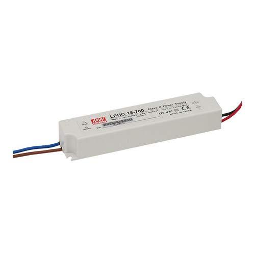 Driver LED Mean Well 18 W 6 à 25°C V/DC 700 mA Bloc d'alimentation à encastrer
