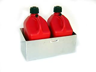 Pit Posse Fuel Jug Dbl Rack-Fits Two 5 Gallon Jugs
