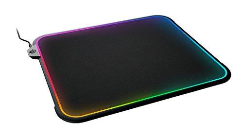 SteelSeries QcK Prism, Tappetino per Mouse da Gioco, 32 x 27 x 9 Centimetri, Illuminazione RGB Reattiva, Superficie a Doppia Testurizzazione