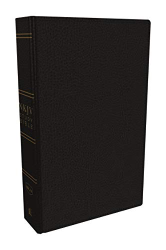 NKJV Study Bible, Premium Bonded Leather, Black, Comfort Print: The Complete Resource for Studying God's Word