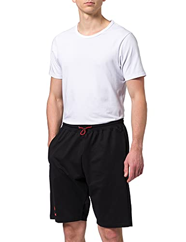 hummel Pantalones Cortos Unisex 211004, Unisex Adulto, Pantalones Cortos, 211004, Negro/Fiesta, Large