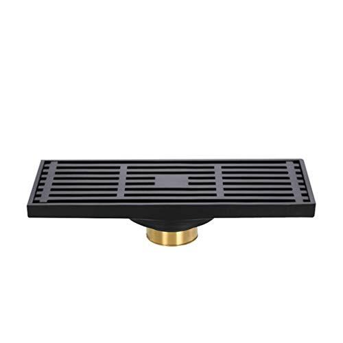 TOPBATHY Desagüe de suelo para ducha, antiolores y filtro para el pelo, con filtro extraíble para cocina, baño, cobre (20 x 8,3 x 4,3 cm)