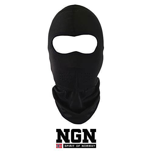 NGN - Pasamontañas de Neopreno, para Hombre y Mujer, Color Negro, para esquí, Snowboard y Moto, Transpirable, máscara Facial para Exteriores
