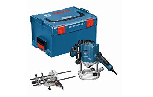 Bosch Professional Oberfräse GOF 1250 CE (Maulschlüssel 19 mm, Parallelanschlag mit Feineinstellung, Kopierhülsenadapter, Spannzange, L-BOXX 238)