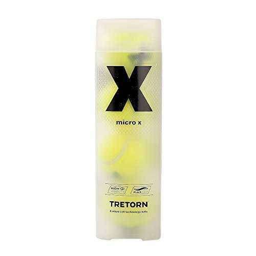 Tretorn Micro X - Confezione da 4 palline da tennis, Taglia Unica