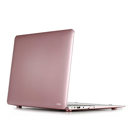 ZinMark Scrub 13 inch Folio Cover Shell Hard Case for [ MacBook Air 13.3 inch ] (Model: A1369 & A1466 ) -Rose Gold