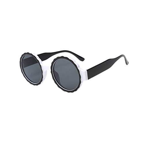 Eyewear Gafas de sol redondas hippie sombreadas retro lentes redondas de espejo gafas de sol gafas de sol gafas de sol integradas gafas de sol gafas de sol de viaje para hombre y mujer