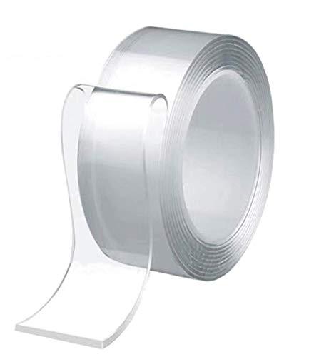 テープ 両面テープ 超強力魔法テープ 多機能テープ のり残らず はがせるテープ 透明 防水 洗濯可能 で繰り返し利用可能 滑り止めテープ 耐熱 家庭 オフィス 寮 (5M×3CM×2MM)