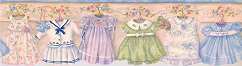 Tapetenbordüre für Mädchen, Pfirsichfarben, 16,5 x 4,6 m, GU92111B