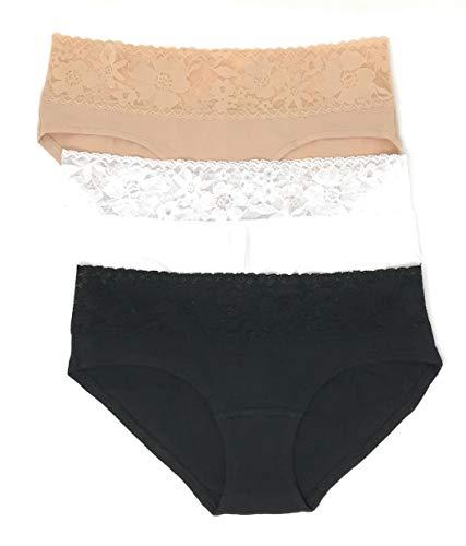 Victoria's Secret Spitzenbund Hiphugger Panty 3er Set - - Small
