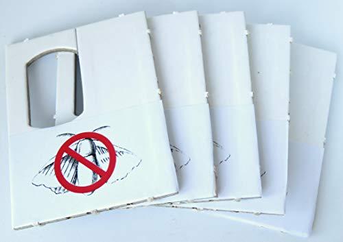 UKarbid Schlupfwespen gegen Lebensmittelmotten 5 Karten 4 Lieferungen