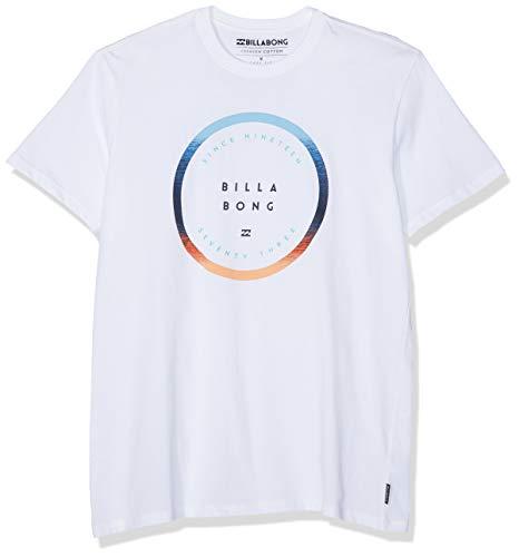 Billabong Herren Kurzarm-t-Shirt ROTATED SS, White, M, N1SS21 BIP9 10