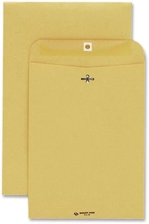 Quality Park 37755 Clasp Envelope 6 X 9 32lb Light braun 100 box by QLTYPK B0141N3HYC | Offizielle