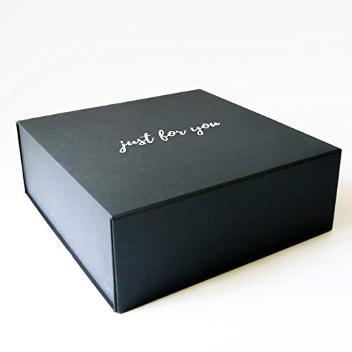 Just For You Scatola Regalo Premium Gift Box, Chiusura Magnetica, Confezione Compleanno, Festa, 25x25x9cm