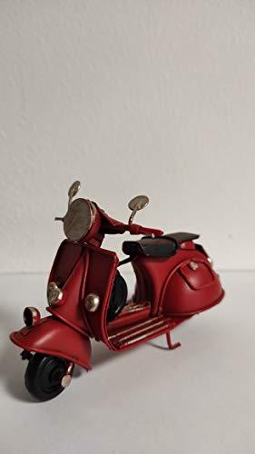 ZAMBIASI Vespa Vintage in Miniatura in Metallo (Rosso, Modello Piccolo)