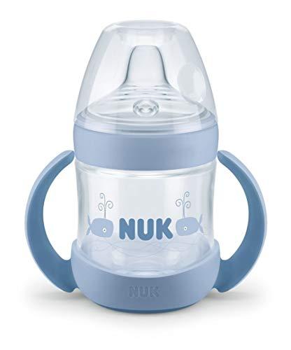 Nuk - Simply Natural, Taza Entrena con Válvula Anti-cólicos, sin Bisfenol A, de 6 a 18 Meses