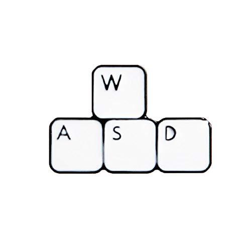 Zxx17 Keyboard Pin Computerspielmaschine Brosche, Wild Denim Jacke Micro Kapitel Brosche