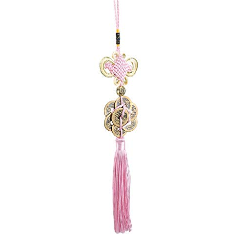 weichuang Handmade Silky Tassels Chinese Characteristics Ornaments Chinese Tassel Craft Home Decoration Knot Tassel Pendant Tassel Pendant Crafts Gift (Color : Pink)