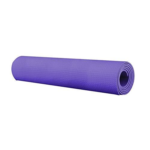 KDABJD Esterillas de yoga, 4 mm de grosor, antideslizante, colchonetas suaves, plegables para culturismo, ejercicios de fitness