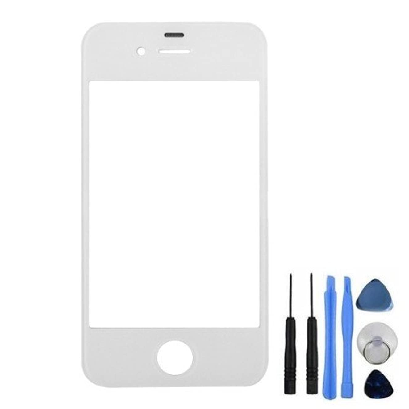 Bislinks Front Screen Lens Glass White for iPhone 4 4G