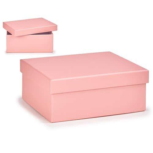 CABLEPELADO Caja almacenamiento para regalo de carton mediana Rosa claro