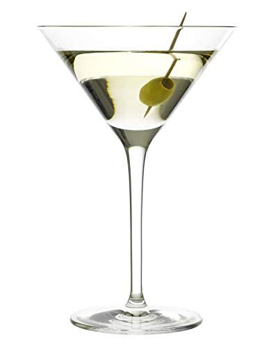 Stölzle Lausitz Cocktailschale, Serie Grandezza, 240 ml, 6er Set Cocktailgläser, sehr elegante, hochstielige Cocktailschale für Dry Martini, Cosmopolitan und andere Cocktails, spülmaschinenbeständig