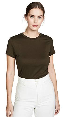 Theory Damen Tiny Tee 2 Hemd, Deep Army, Groß
