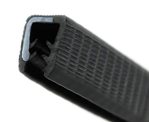 KS5-8S-POM Kantenschutzprofil von SMI-Kantenschutzprofi aus PVC Gummi - Klemmbereich 5-8 mm - NICHT ROSTEND - Klemmprofil mit POM Kunststoffeinlage - Schwarz - selbstklemmend ohne Kleber(3 m)